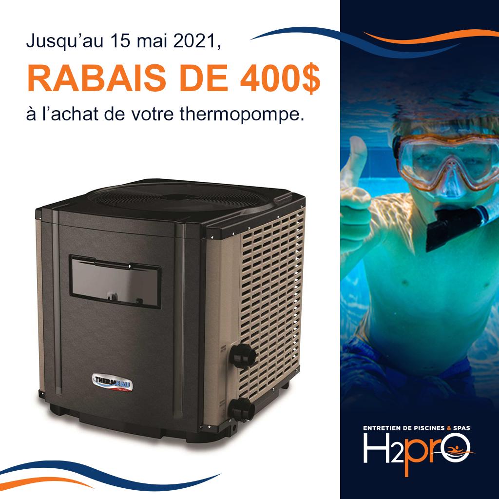 Rabais thermopompe
