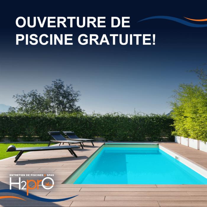Ouverture de piscine gratuite
